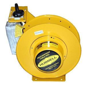 Hubbell-Wiring Kellems HBL501032W Weatherproof Cord Reel, 50', 10/3 SO Cord, Yellow