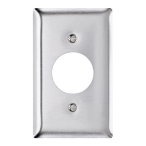 "Pass & Seymour SS7 Single Receptacle Wallplate, 1.406"" 1-Gang, Stainless Steel"