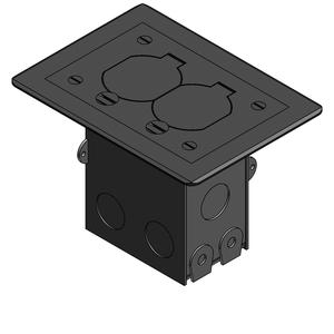 71W-DS-N-C RESI 1G FLR BOX DPLX NICKEL