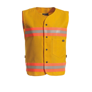 Workrite Uniform 344NX60YL/XL/GE-LOGO Glow Vest, NOMEX IIIA, Yellow, GE Logo, XL