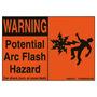 PPS0305W2100 ARC FLASH HAZARD LABEL 4