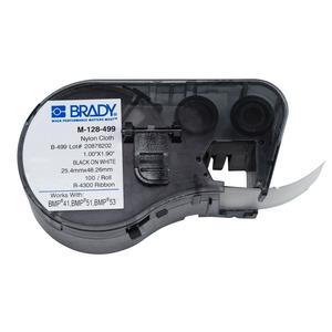 Brady M-128-499 Label,M Series,B499,1x1.9,Blk/Wht,1 EA