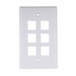 Future Smart ESWR610W  10 PACK OF BLANK 6 PORT WALL OUTLETS (WHITE)