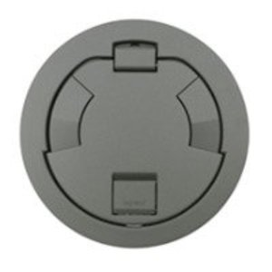 "Wiremold 6CT2GY Flush Style Cover Assembly, 7-1/4"" Round, Gray"