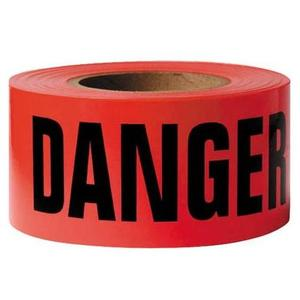 """3M 515 3"""" x 150' Red """"Danger"""" Repulpable Barricade Tapes"""