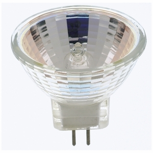 Satco S3195 Halogen Mini-Reflector Lamp, 10W, 12V, Bulb: MR11, Base: GZ4, Color Temperature: 2900K, Beam Angle: 12°