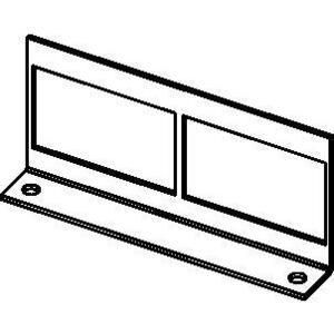 Wiremold RFB22AB Internal Communication Bracket, (2) Adapters, Aluminum