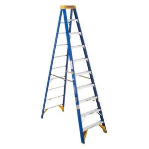 Werner Ladder OBEL10 Job Station Step Ladder, 10', Type IAA, 375 lbs