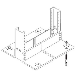 "Chatsworth 40604-001 Rack Installation Kit for Wood Floor, 3/8"" Hardware, Zinc Finish"