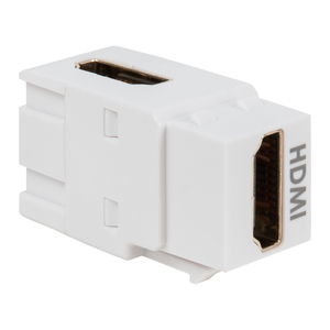 International Connectors & Cable IC107AHMWH MODULE 90 DEGREE HDMI F-F WHITE