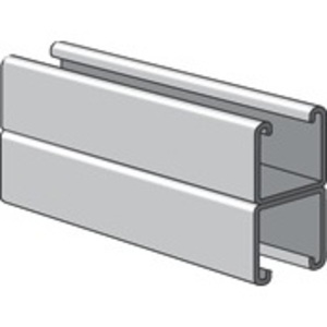 "Power-Strut PS200-2T3-10-SS Channel - Back To Back, Stainless Steel 304, 1-5/8"" x 3-1/4"" x 10'"
