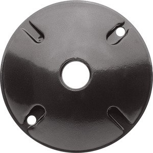RAB C100A WEATHERPROOF COVER ROUND 1 HOLE BRONZE