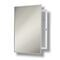 Broan 490 Medicine Cabinet, Recess Mount, Stainless Trim