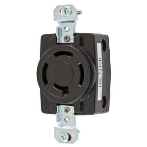 Hubbell-Kellems HBL7410B Single Flush Receptacle, Non-NEMA, 20A
