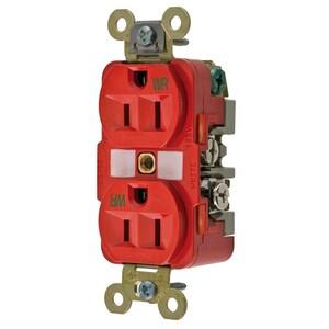 Hubbell-Wiring Kellems HBL5262RWR WR RCPT, DUP, SB, HD SPEC, 15A 125V, RD