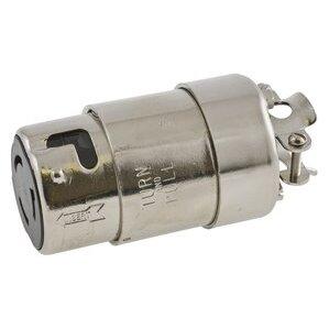 Hubbell-Kellems HBL63CM64 Locking Connector, Marine Grade, 50A, 125/250V, Galvanized