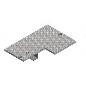 "Oldcastle Precast 2000550 Rectangular Cover, Type: Flush, Size: 14 x 20"", Steel Checker Plate"
