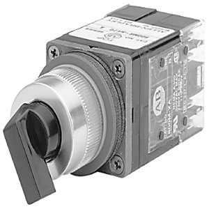 Allen-Bradley 800MR-NH2QBK Selector Switch, 4-Position, Black, Knob, Maintained, 22.5mm