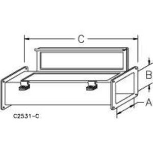"""nVent Hoffman F22W24 Wireway, Feed-Through, Type 12, Cover, 2-1/2"""" x 2-1/2"""" x 24"""", Steel, Gray"""