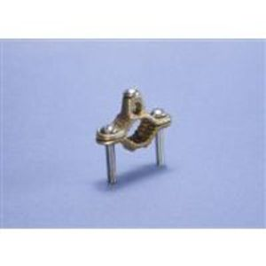 "Erico Cadweld CWP1J Ground Clamp, 1/2 to 1"", 2 to 10 AWG, Bronze"