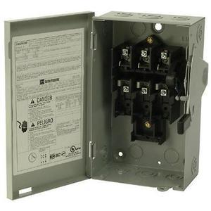 Eaton DG222UGB Safety Switch, 60A, 2P, 240V, Type DG, Non-Fusible, NEMA 1