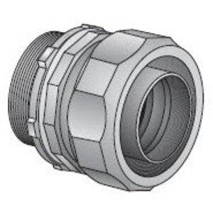 "EGS 4QS-50 Liquidtight Connector, Straight, 1/2"", Steel"