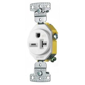 Hubbell-Wiring Kellems RR205WWR HUB RR205WWR RESI SGL RCPT, 20A