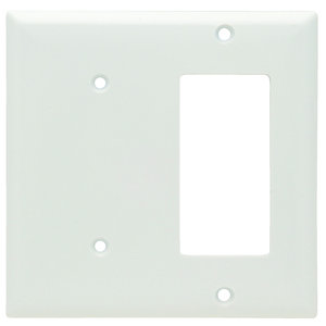 Pass & Seymour SP1426-W 2-Gang, Blank/Decora, Thermoset, White