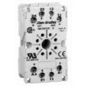 Allen-Bradley 700-HN100 Socket, 8-Pin, Tube Base, Screw Terminal, Panel or DIN Rail Mount