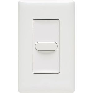 Hubbell - Building Automation LVSM1PLWH Low Voltage Wall Switch, 1 Button, 24VDC, Momentary, White