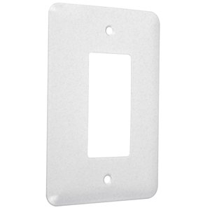 Hubbell-TayMac WMTW-R 1-Gang Metal Wallplate, Maxi, Decorator, White Textured