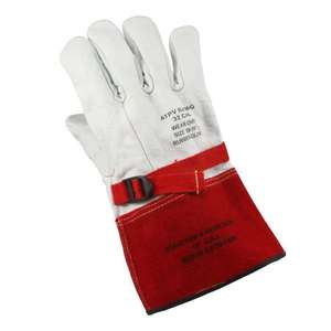"Cementex P2-12-11 Leather Glove Protectors, 12"", Class 2, Size 11"