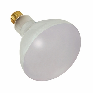 Satco S7007 500 WATT BR40 INCANDESCENT; FROST; 2000 AVERAGE RATED HOURS; 5500 LUMENS; MEDIUM BASE; 130 VOLTS