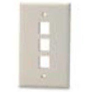 Bizline FPSG3PWHT Wall Plate, Snap-In, 1-Gang, 3 Port, White