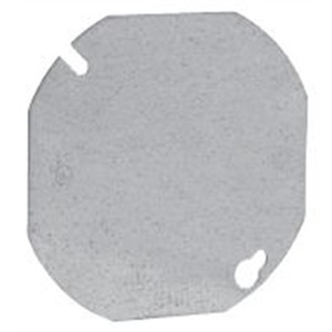 """Cooper Crouse-Hinds TP322 4"""" Octagon Box Cover, Type: Blank, Steel"""