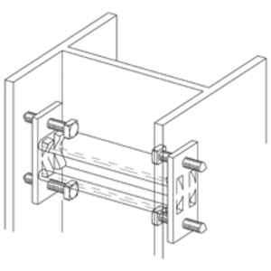 Cooper B-Line B613HDG Column Support for B22 Channel, Hot Dipped Galvanized
