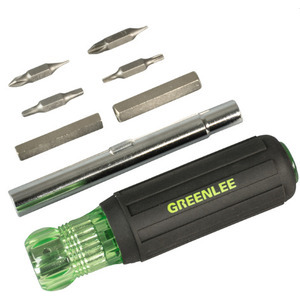 Greenlee 0153-47C Multi-Functional Screwdriver/Nutdriver, 11 in 1 Tool