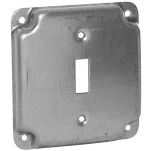 "Appleton 8361 4"" Square Exposed Work Cover, (1) Toggle Switch, 1/2"" Raised"