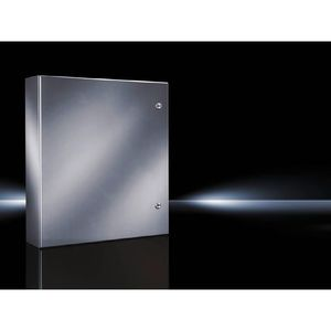 "Rittal 8017605 4X Wall Mount Enclosure, Hinge Cover, 20 x 16 x 8.3"", Stainless"