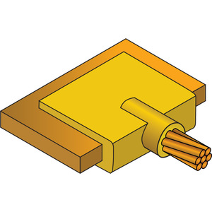 nVent Erico LJCEG2G Cable to Lug or Busbar