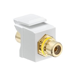 Leviton 40830-BWY White RCA Speaker Snap-In Adapter