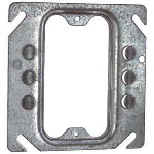 "Steel City 52-C-62 4"" Square Cover, 1-Device, Mud Ring, 1/4"" Raised, Drawn, Metallic"