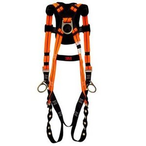 3M 1450 Chest Conn. Harness, Universal Size, Back/Waist D-Rings, Wt. Cap: 310lbs Max *** Discontinued ***