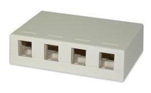 Signamax SMKL-4-WH 4-Port Surface Mount Multimedia Box, White