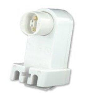 Leviton 492 Fluorescent Lampholder, Recessed Double Contact, Plunger, White
