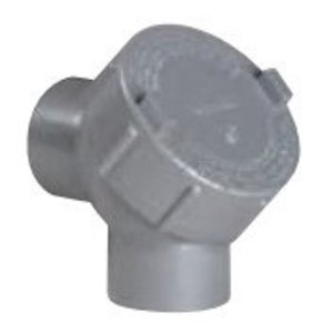"Hubbell-Killark Y-3-EX Pulling Elbow, Capped, 90°, 1"", Explosionproof, Aluminum"