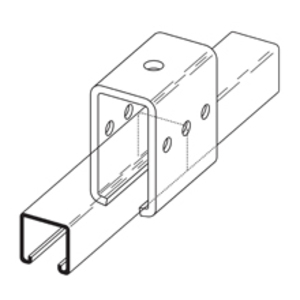 Eaton B-Line B350ZN TROLLEY BEAM JOINT SUPPORT ZINC PLATED