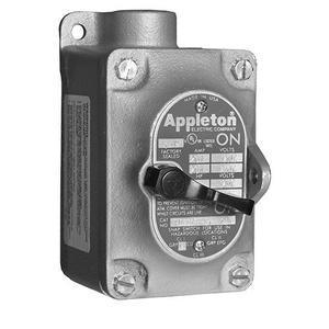 Appleton EFS175-F23 Sw 2p Sgl Gang 30a 3/4 In Hub