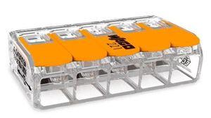 Wago 60361834 Splicing Connector, 221-615/K194-4045, 5-Port, Lever Operator