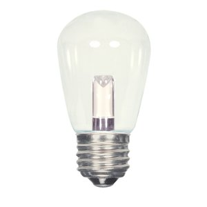 Satco S9174 SATCO S9174 1.4 watt LED; S14; Clear; 2700K; Medium base; 120 volts